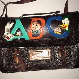 Handbags - Vintage Looney Tunes Hand Tooled Satchel
